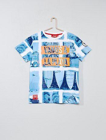 Garçon 10-18 ans - T-shirt imprimé 'plage' - Kiabi