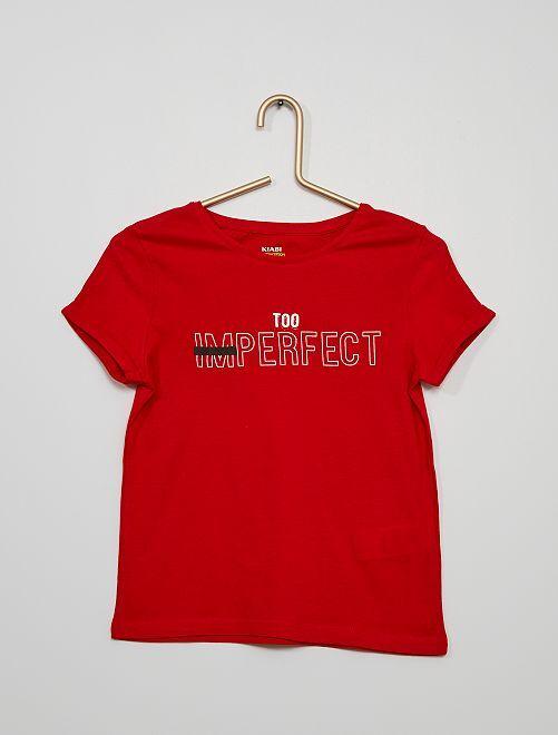 T-shirt imprimé                                                                 rouge