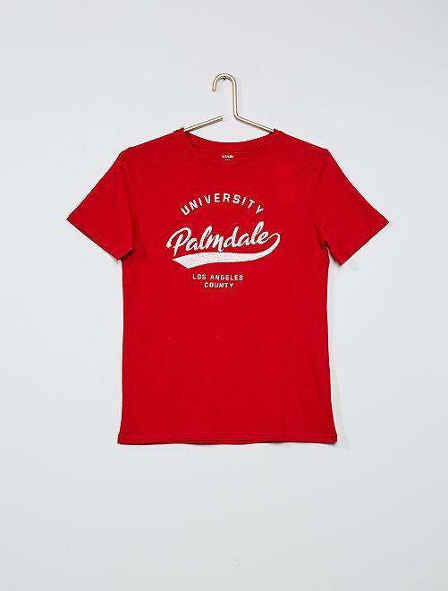 T-shirt imprimé 'skate'                                                                                         rouge
