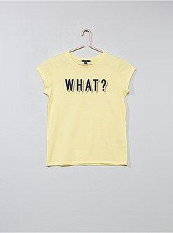 Fille 10-18 ans - T-shirt imprimé 'What' - Kiabi