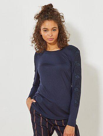T-shirt 'JDY' avec détail dentelle - Kiabi