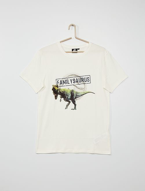 T-shirt 'Jurassic World'                     BLANC