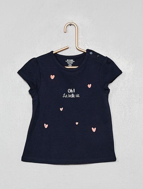 T-shirt 'la belle vie'                                                                 bleu/oh
