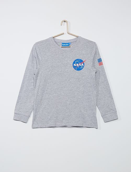 T-shirt la 'NASA'                             gris chiné