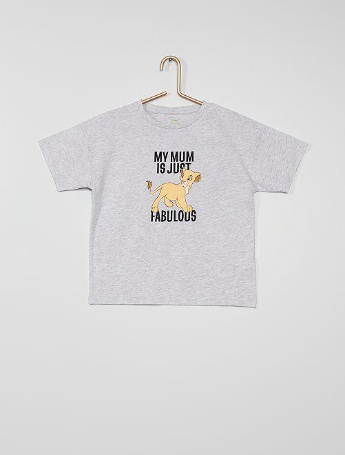 T-shirt 'Le Roi Lion' éco-conçu                                         gris