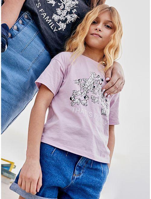 T-shirt 'Les 101 Dalmatiens' éco-conçu                                         violet