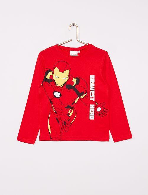 T-shirt manches longues 'Avengers'                                         rouge
