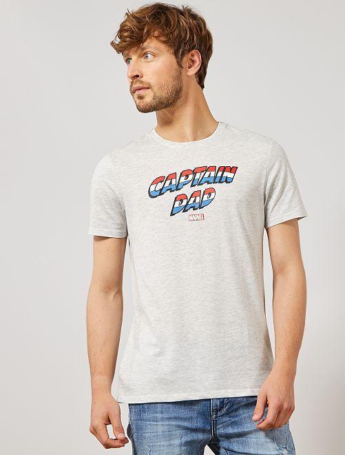 T-shirt 'MARVEL'                                         gris clair chiné Homme