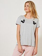 T-shirt \'Mickey\' à sequins réversibles