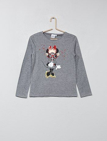 T-shirt 'Minnie' à sequins - Kiabi