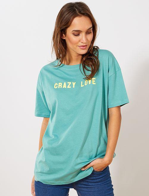 T-shirt oversize 'éco-conception'                                                                                                                                                                 vert