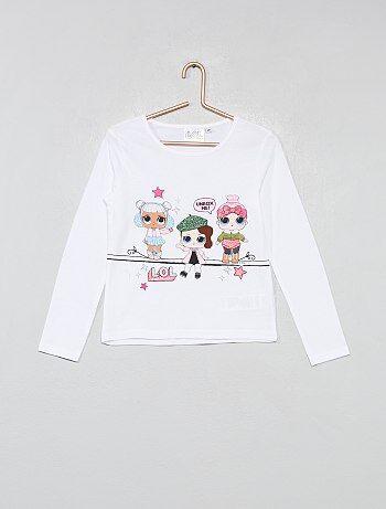 296c51bbeec6a Fille 3-12 ans - T-shirt pailleté  LOL Surprise  - Kiabi
