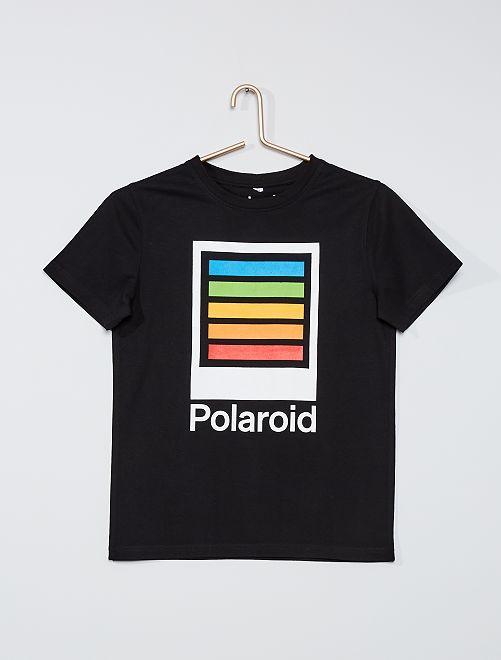 T-shirt 'Polaroid'                             noir