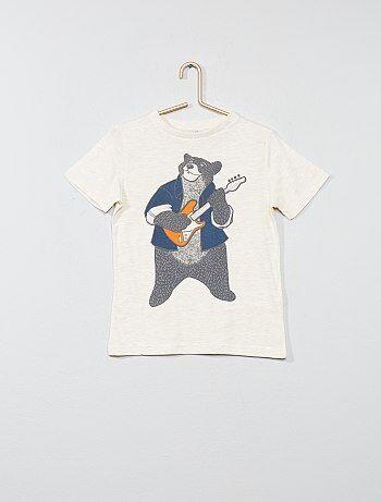 T-shirt pur coton imprimé - Kiabi