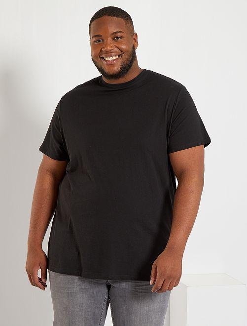 T-shirt pur coton                                                                                                                                                     noir