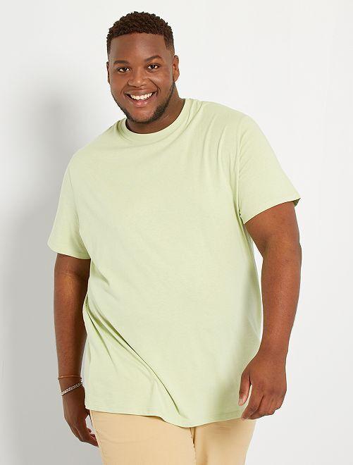 T-shirt pur coton                                                                                                                                                                 vert pistache