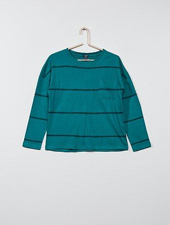 Garçon 3-12 ans - T-shirt rayé COTON BIO - Kiabi