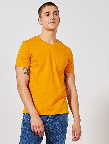 af90af04727 T-shirt col v homme pas cher imprimé - mode homme