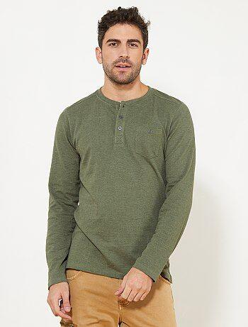 T-shirt regular en piqué - Kiabi