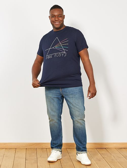 T-shirt regular 'Pink Floyd'                             bleu marine Grande taille homme