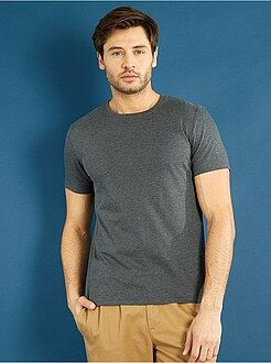 Homme du S au XXL T-shirt regular uni en jersey