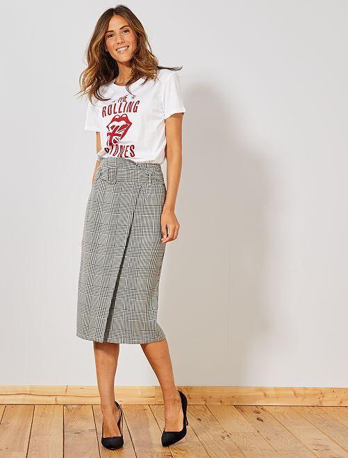T-shirt 'Rolling Stones'                             blanc Femme