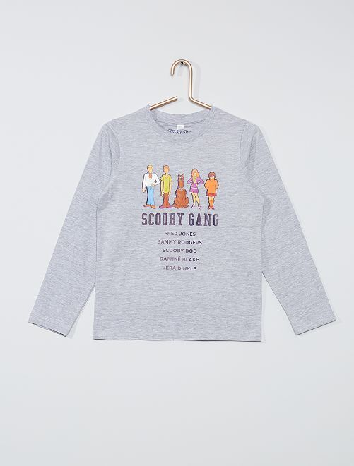 T-shirt 'Scooby Doo'                             gris chiné