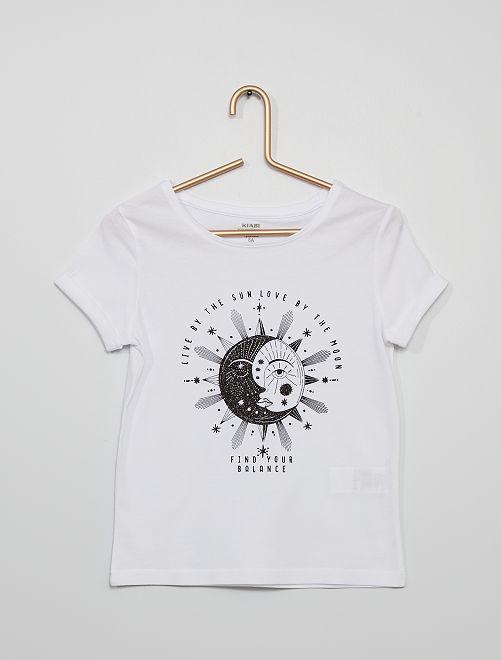 T-shirt 'sun & moon'                                                                             blanc