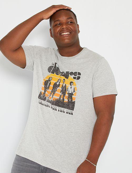 T-shirt 'The Doors'                             gris clair chiné
