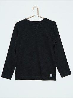 T-shirt manches longues - T-shirt uni manches longues - Kiabi