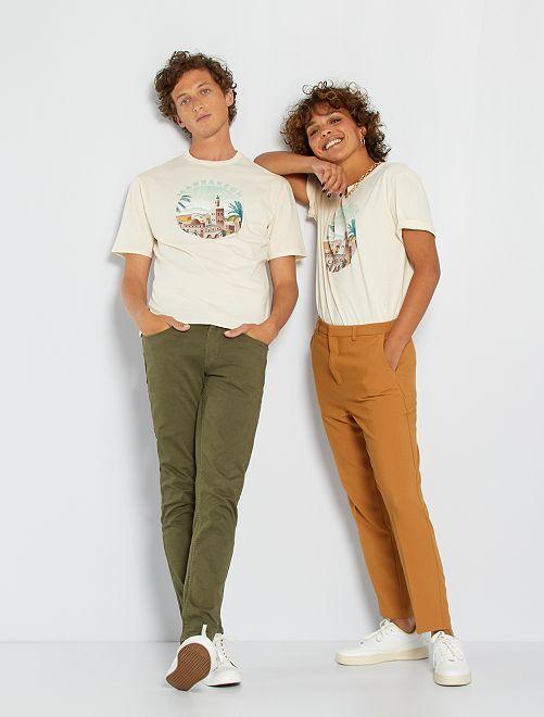 T-shirt unisexe 'Marrakech'                                                     beige