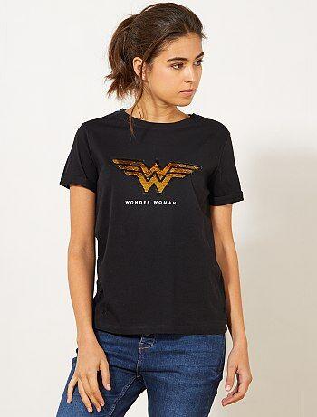 T-shirt 'Wonder Woman' à sequins - Kiabi