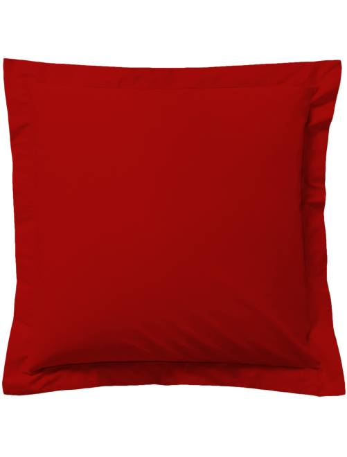 Taie d'oreiller unie                                                                                                                 rouge