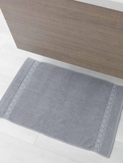 Tapis de bain 50 x 85 cm                             gris Linge de lit