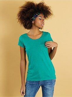 T-shirt manches courtes - Tee-shirt basique poche poitrine