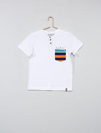 Tee-shirt col tunisien - Kiabi
