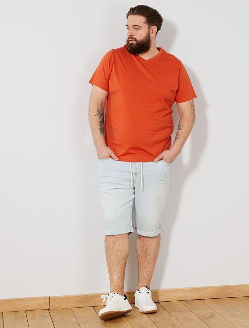 Tee-shirt comfort jersey uni                                                                                                                                                                             orange