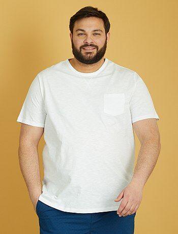 Tee-shirt coton flammé - Kiabi