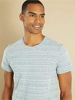Homme du S au XXL Tee-shirt fines rayures