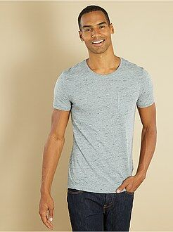 Homme du S au XXL Tee-shirt fitted injected poche poitrine