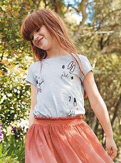 Tee shirt, débardeur - Tee-shirt imprimé girly
