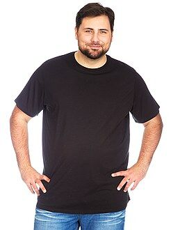 Grande taille homme Tee-shirt jersey col rond