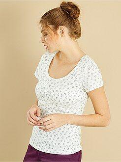 T-shirt, débardeur - Tee-shirt manches courtes imprimé