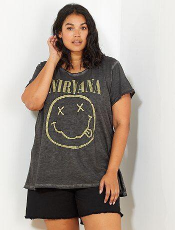 Tee-shirt 'Nirvana' délavé - Kiabi