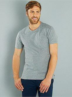 Homme du S au XXL Tee-shirt regular maille piquée bicolore