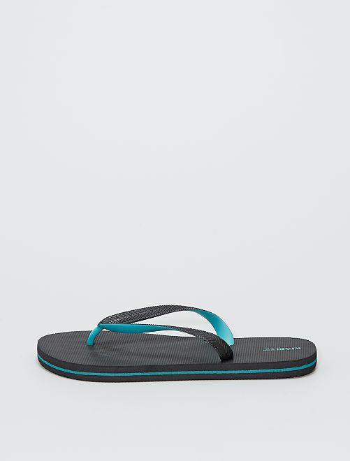 Tongs de plage                                         noir/bleu