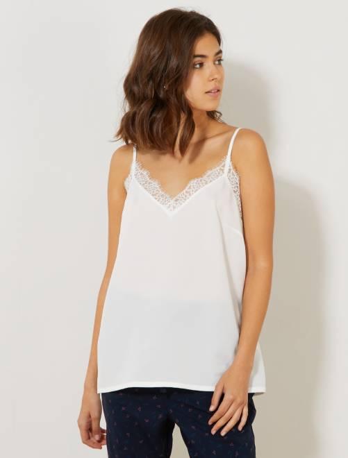 Top lingerie en dentelle                                                                     blanc Femme