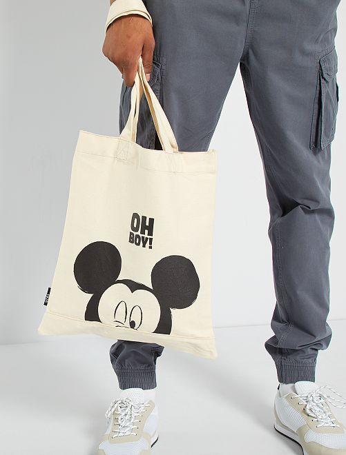 Totebag 'Mickey'                             beige