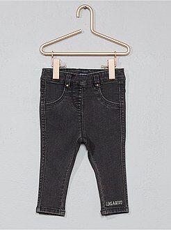 Tregging jean stretch brodé - Kiabi