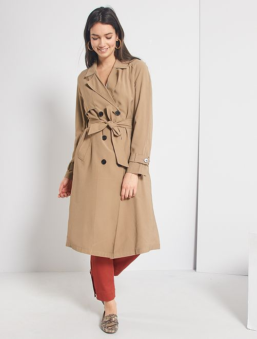 Trench fluide et long                     beige
